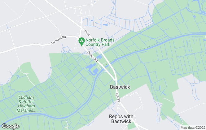 Map for Countryside Estate Agents, Potter Heigham