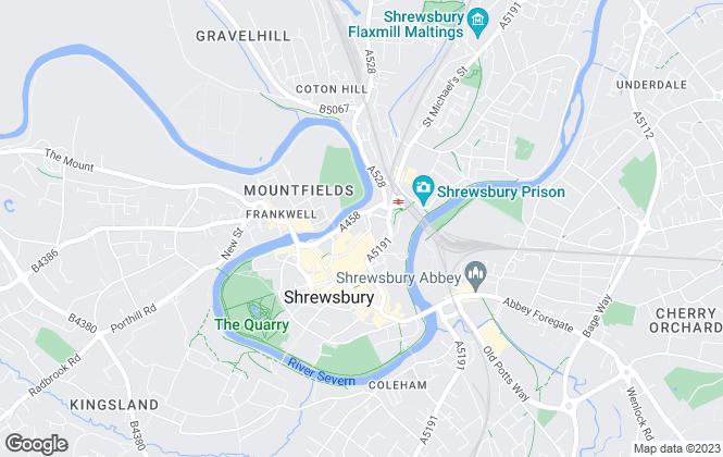 Map for PETER RICHARDSON COMMERCIAL LTD, Shrewsbury