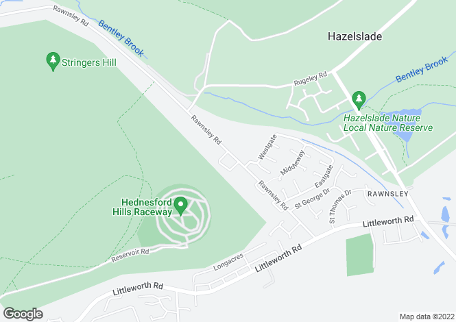 Map for Rawnsley Road,  Rawnsley, WS12