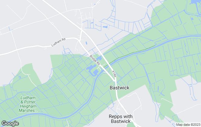 Map for Waterside Estate Agents Ltd, Potter Heigham