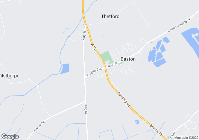 Map for Greatford Road, Baston, Peterborough, Lincolnshire