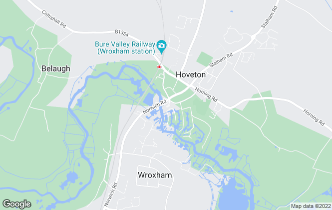 Map for Abbotts, Wroxham