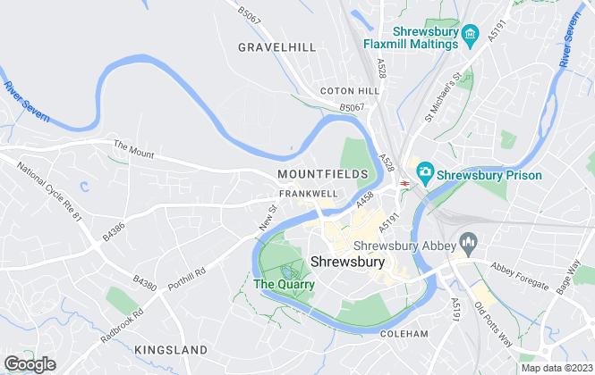Map for EweMove, Shrewsbury