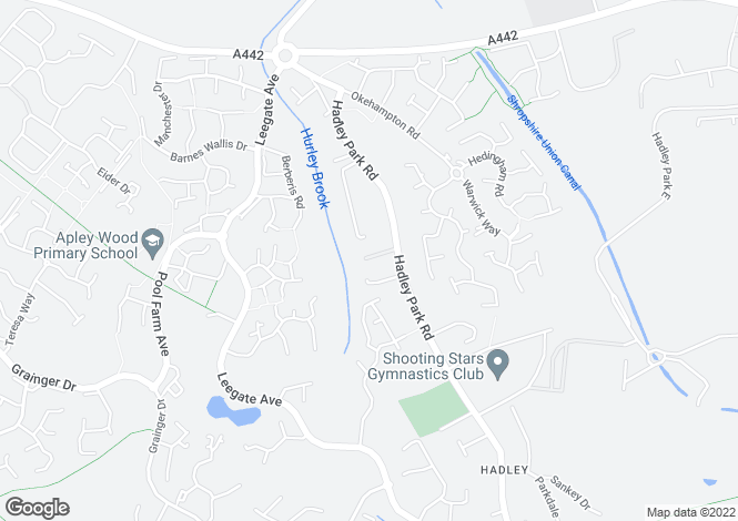 Map for Park Court, Hadley, Telford, TF1