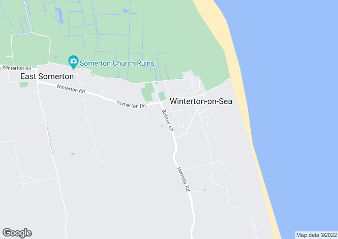 Map for Bulmer Lane, Winterton-On-Sea, Great Yarmouth, NR29