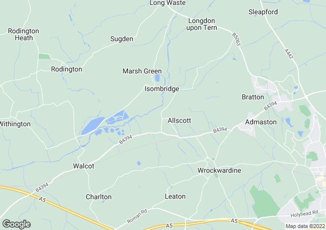 Map for The Heathers, Allscott, Telford, TF6 5EE