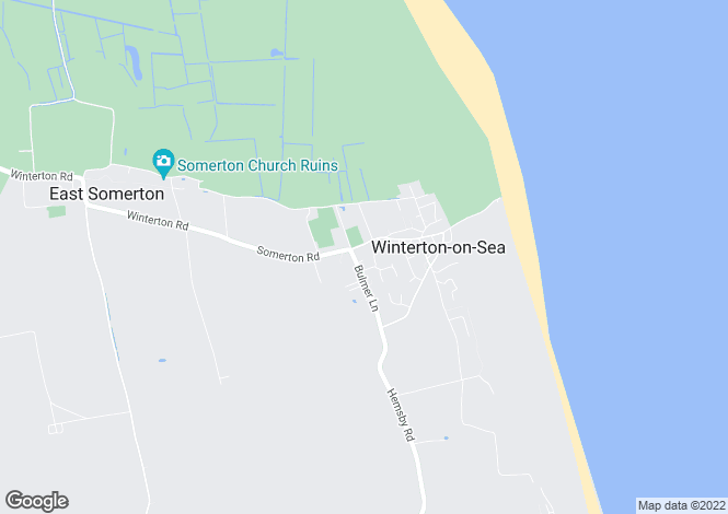 Map for Winterton on Sea