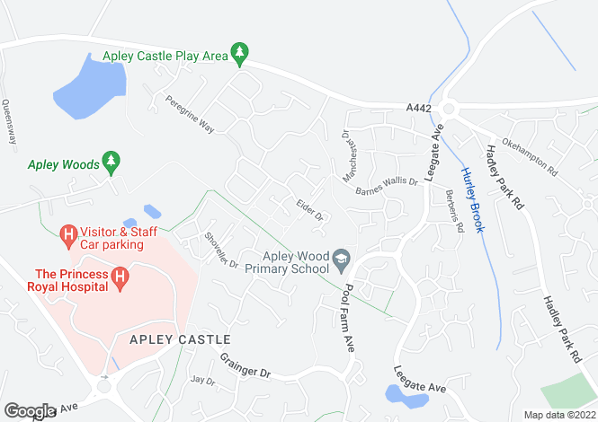 Map for 32, Eider Drive, Apley, Telford