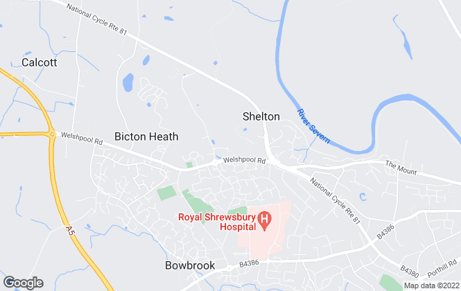 Map for Balfours LLP, Shrewsbury -Lettings