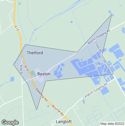 Map of property in Baston