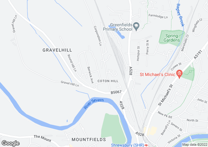 Map for Coton Hill, Shrewsbury