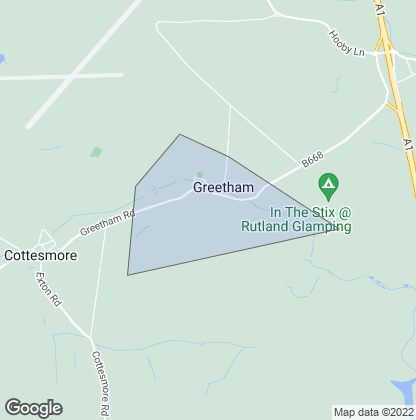Map of property in Greetham