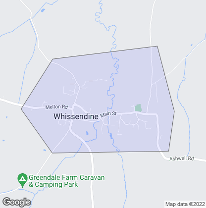 Map of property in Whissendine