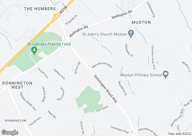 Map for The Western Apartments, Muxton, Telford