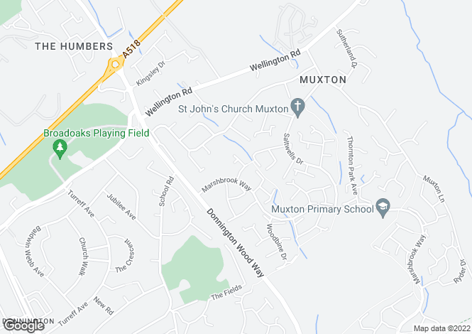 Map for Birchwood Close, Muxton, Telford