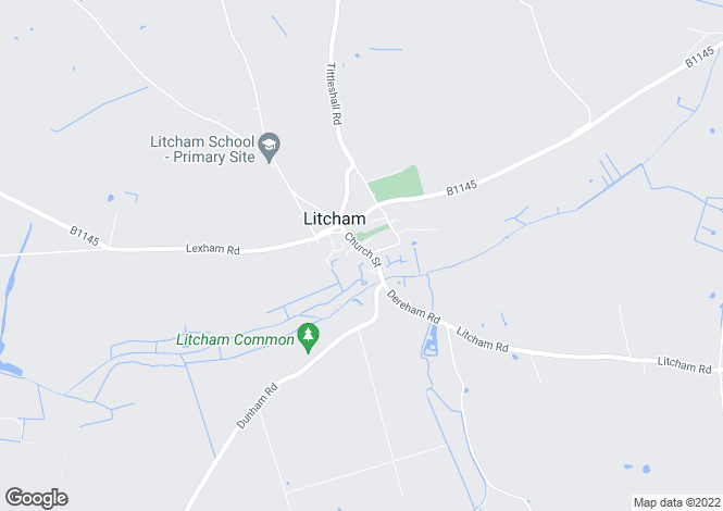 Map for Clover Cottage, Litcham, Norfolk PE32 2NS