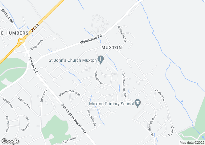 Map for Sweet Briar Close, Muxton, Telford