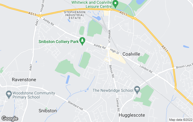 Map for Harrison Thorn Ltd, Coalville