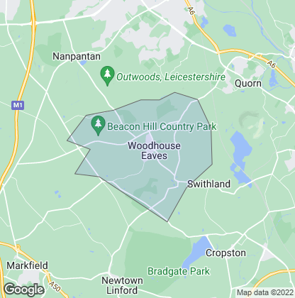 Map of property in Woodhouse Eaves
