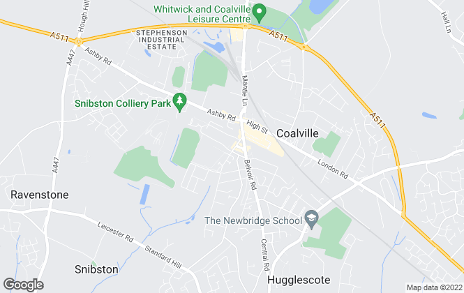 Map for Newton Fallowell, Coalville, Lettings