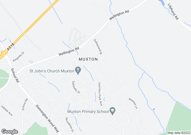 Map for 43A Muxton Lane,