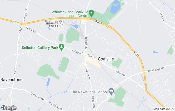 Map for Martin & Co, Coalville - Lettings & Sales