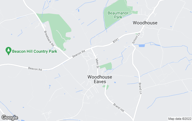 Map for Fine & Country, Woodhouse Eaves