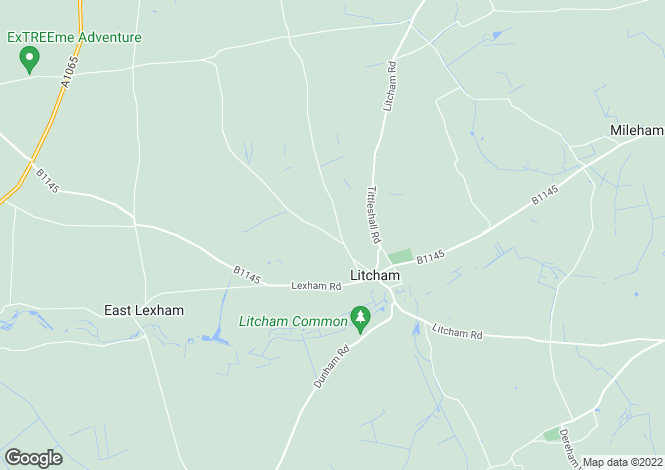 Map for Weasenham Road, Litcham, Norfolk