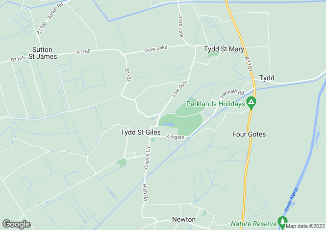 Map for Eaudyke Bank, Tydd St Giles, Cambridgeshire, PE13 5LU