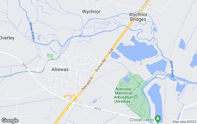 Map for Crest Nicholson (Midlands)