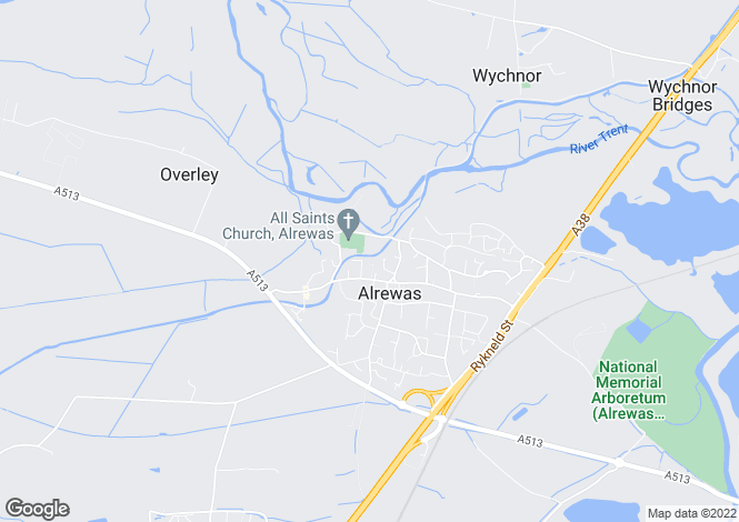 Map for Butts Croft, Alrewas, DE13 7BE