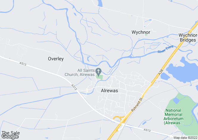 Map for Cotton Close, Alrewas