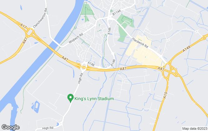 Map for Rounce & Evans, Kings Lynn Lettings