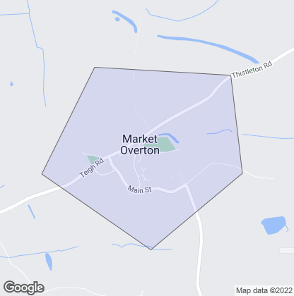 Map of property in Market Overton