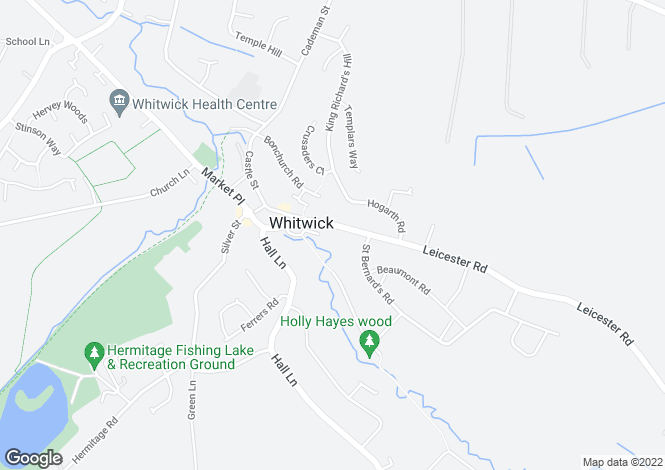 Map for Leicester Road, Whitwick