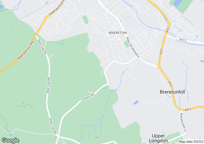 Map for Pinetrees, BRERETON, Rugeley, WS15