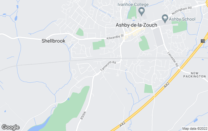 Map for Fisher German LLP, Ashby de la Zouch