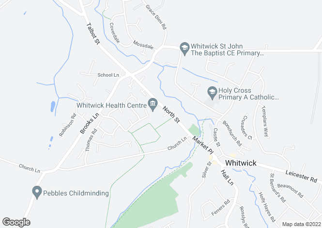 Map for Orchard Gardens, Whitwick, Leicestershire, LE67