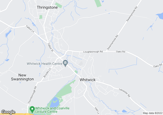Map for Temple Hill, Whitwick, Coalville