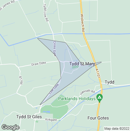 Map of property in Tydd St. Mary