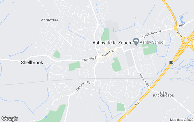 Map for Fish2let.com, Ashby-De-La-Zouch