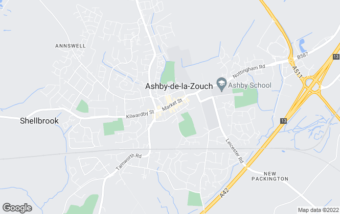 Map for Ashby Lettings, Ashby De La Zouch
