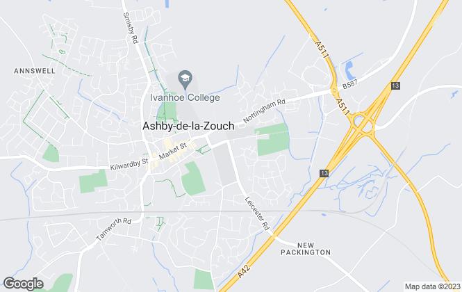 Map for Howkins & Harrison LLP, Ashby-de-la-zouch Rural