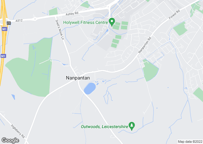Map for Nanpantan Road, Nanpantan, Loughborough LE11