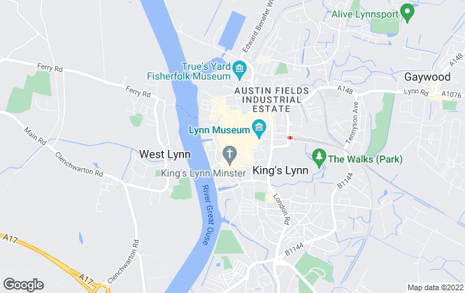Map for Abbotts Lettings, King's Lynn