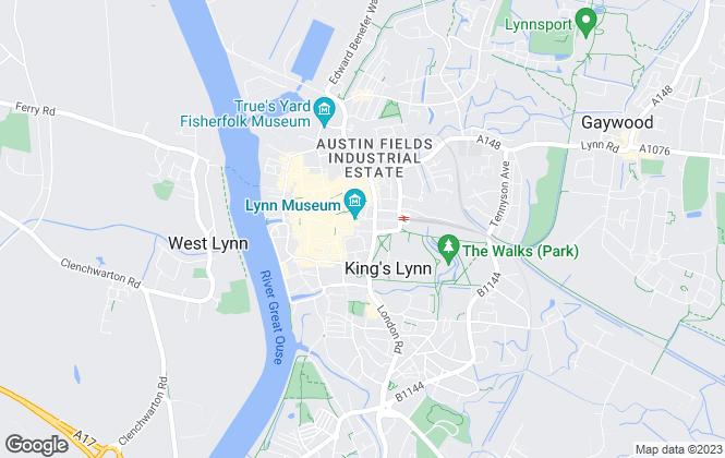 Map for Tawn Landles, Kings Lynn