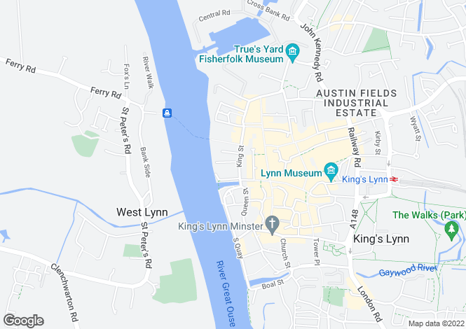Map for KING'S LYNN