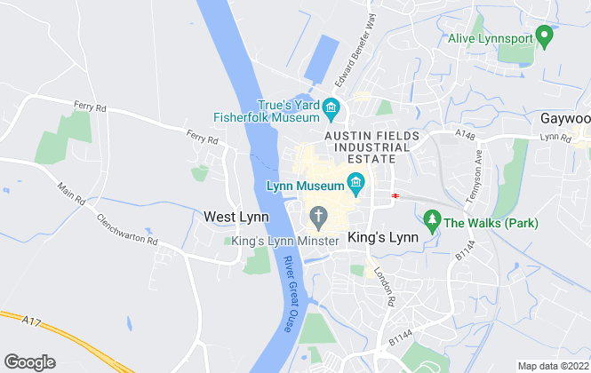 Map for Bennett & Co Estate Agents, King's Lynn
