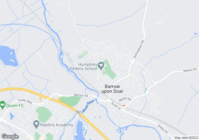 Map for Cotes Road, Barrow Upon Soar