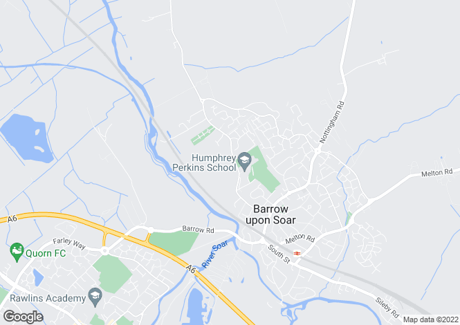 Map for Cossington at Meadow Grange, Willow Road,